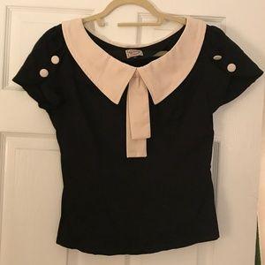 Banned Apparel ModCloth Black Sailor Blouse